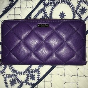 NWOT Kate Spade Quilted Leather Clutch Wallet